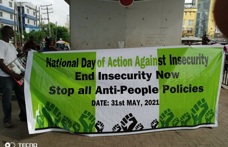 MSA MEMBERS JOIN PROTEST AGAINST INSECURITY IN NIGERIA